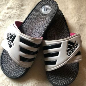 Adidas slides with massaging soles size Women's 6